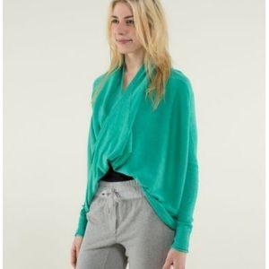 Lululemon Cashmere Blend Twist & Wrap Sweater